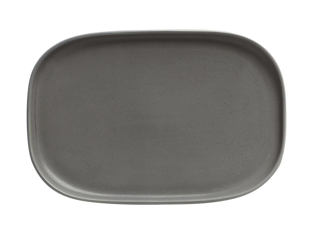 Maxwell & Williams talíř Elemental - tmavě šedý, 20 x 14 cm