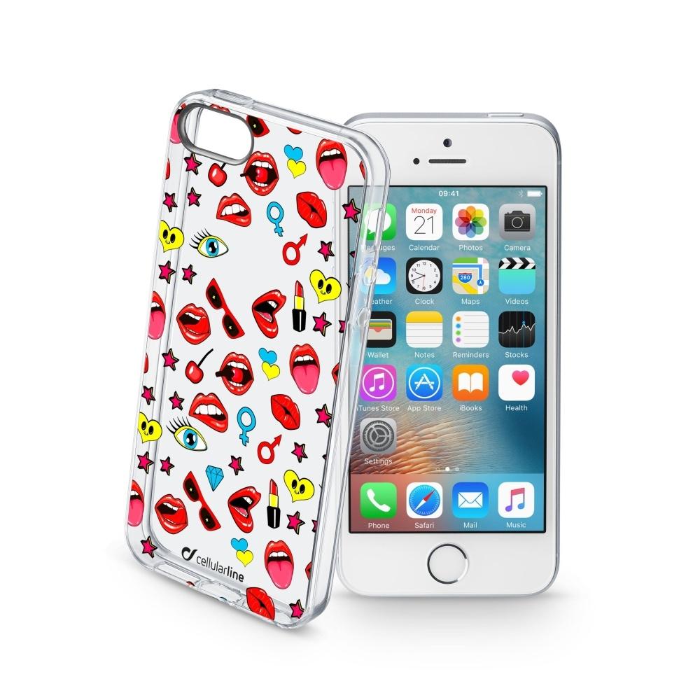 Obal Cellularline STYLE pro Apple iPhone 5/5S/SE, motiv POP STYCS17POPIPH5