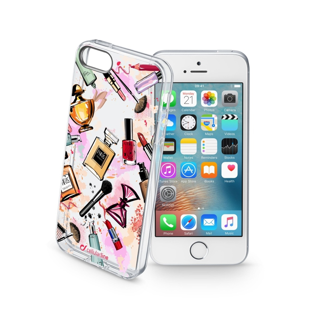 Obal Cellularline STYLE pro Apple iPhone 5/5S/SE, motiv GLAM STYCS17GLAMIPH5