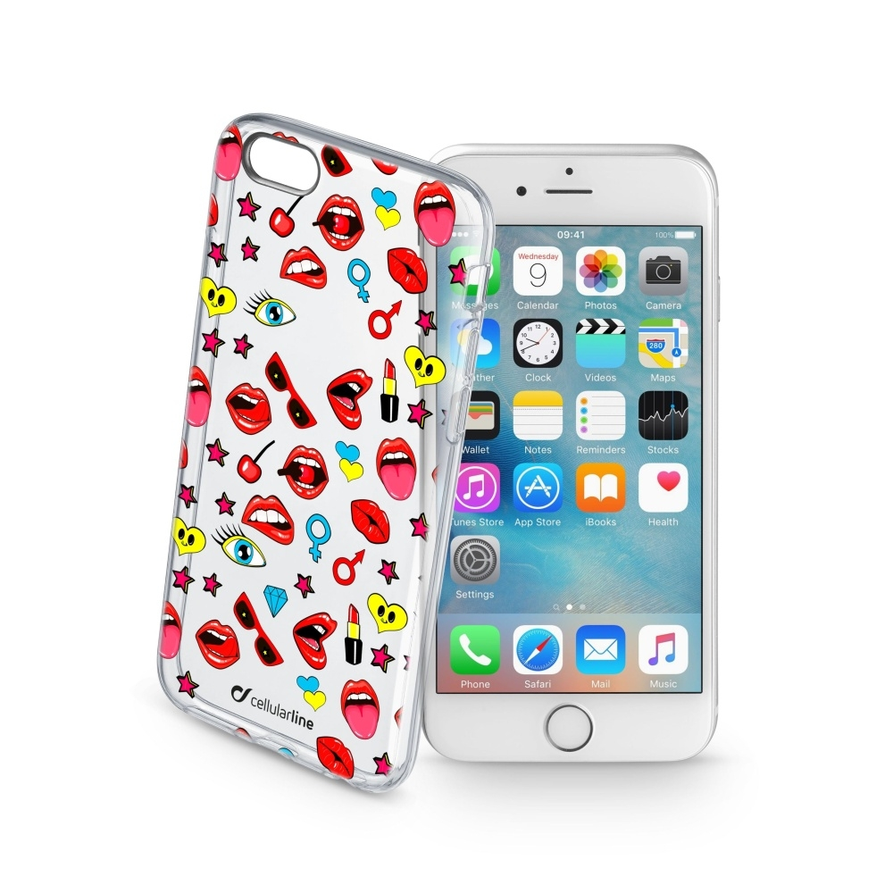 Obal Cellularline STYLE pro Apple iPhone 6/6S, motiv POP STYCS17POPIPH647