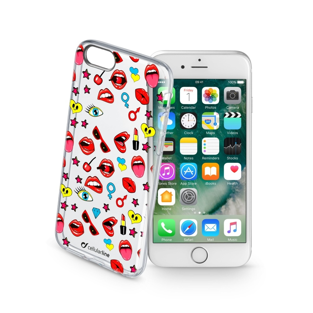Obal Cellularline STYLE pro Apple iPhone 7/8, motiv POP STYCS17POPIPH747