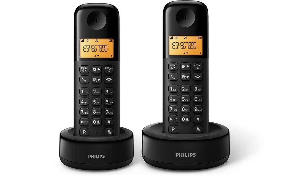 Bezdrátový telefon Philips D1302B/53