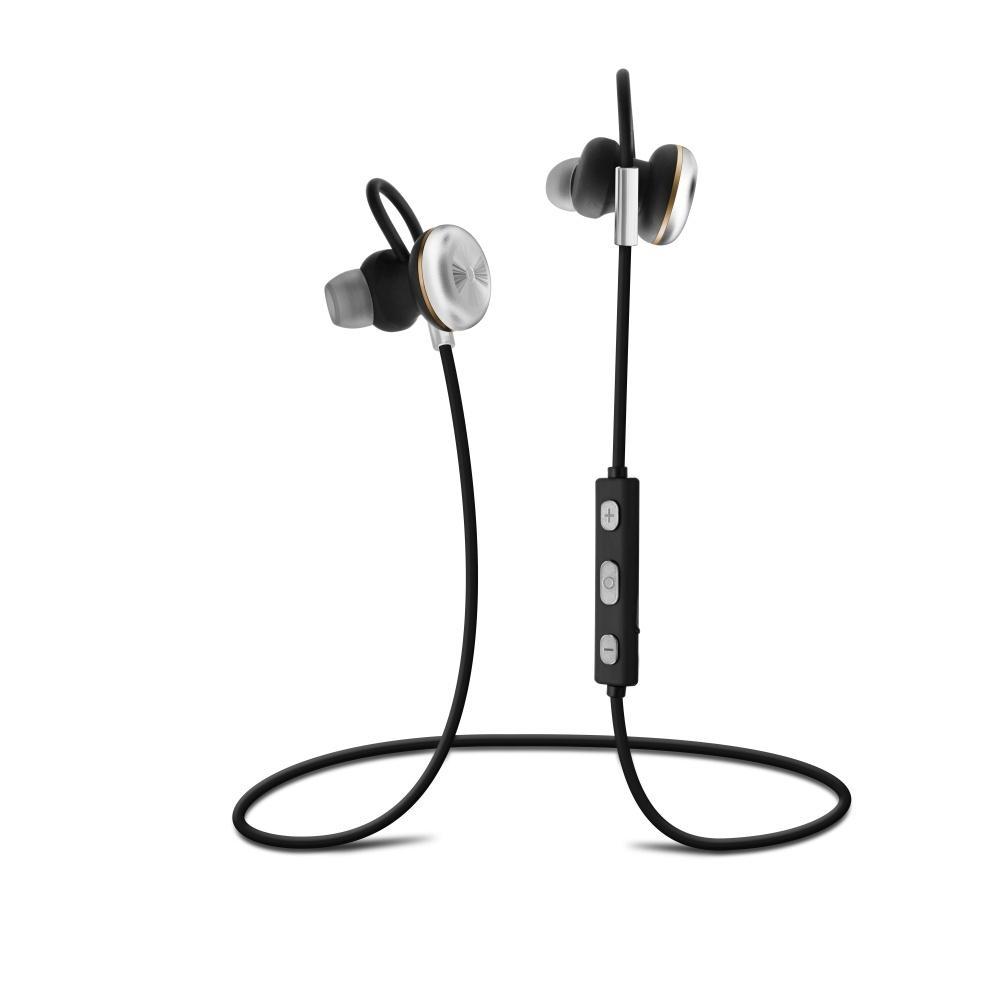 Stereo Bluetooth sluchátka FIXED Steel, A2DP - stříbrná FIXBM-STL-SL