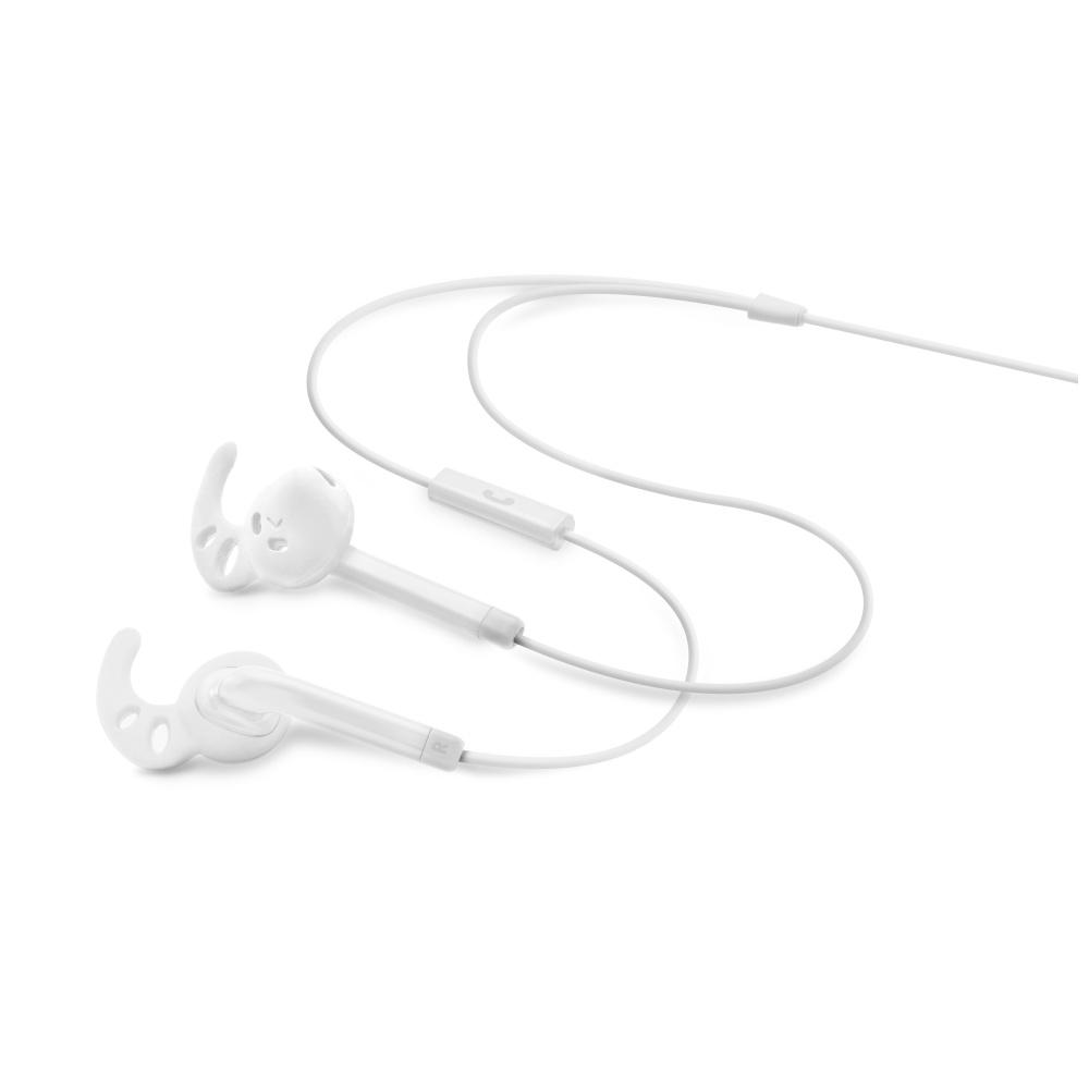Voděodolná sportovní sluchátka s mikrofonem FIXED EGG3, IPX3, bílá - bílá FIXM-EGG3-WH