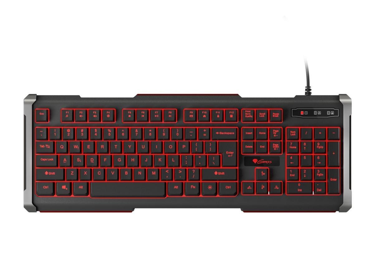Herní klávesnice Genesis Rhod 400, US, podsvícení NKG-0873