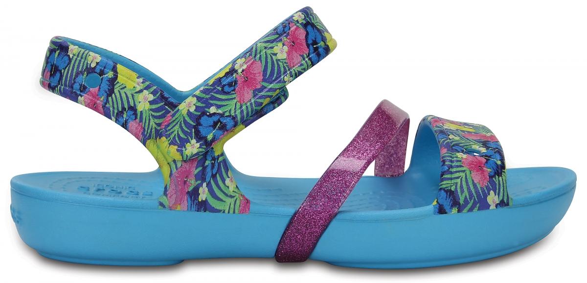 Crocs Lina Sandals Kids - Electric Blue, C10 (27-28)