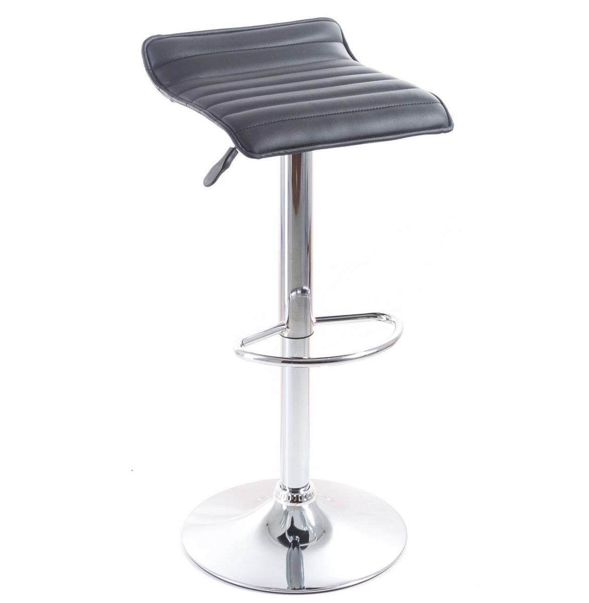 Barová židle G21 Fatea Black, koženková, prošívaná