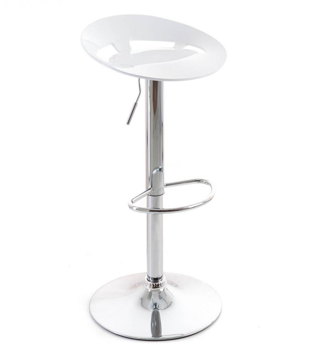 Barová židle G21 Teara White - bílá