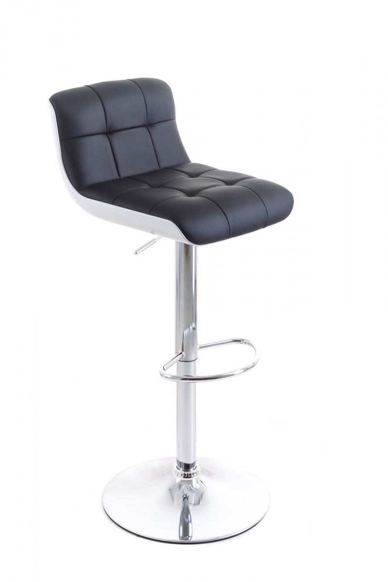 Barová židle G21 Treama Black/White, koženková, černo/bílá