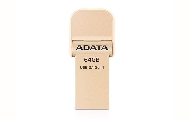 64GB ADATA lightning/USB 3.1 i-Memory zlatá AAI920-64G-CGD