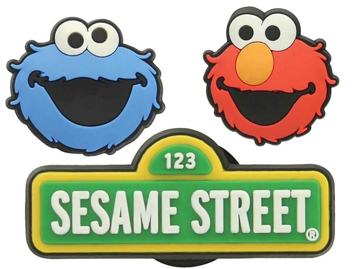 Jibbitz ozdoby na boty Crocs Sesame Street Pack, 3ks