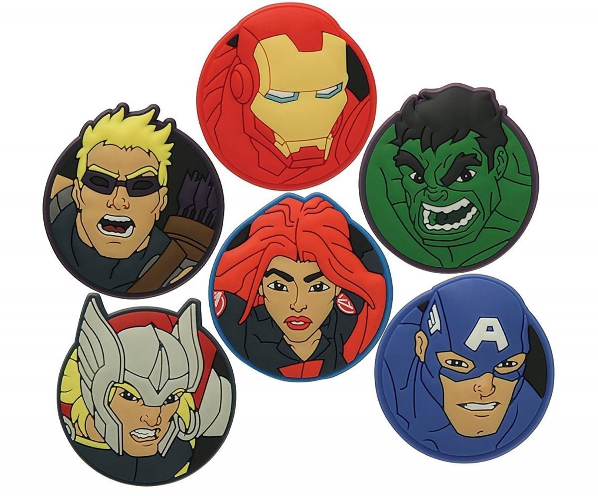 Jibbitz ozdoby na boty Crocs Marvel´s Avengers Heroes Pack, 6ks