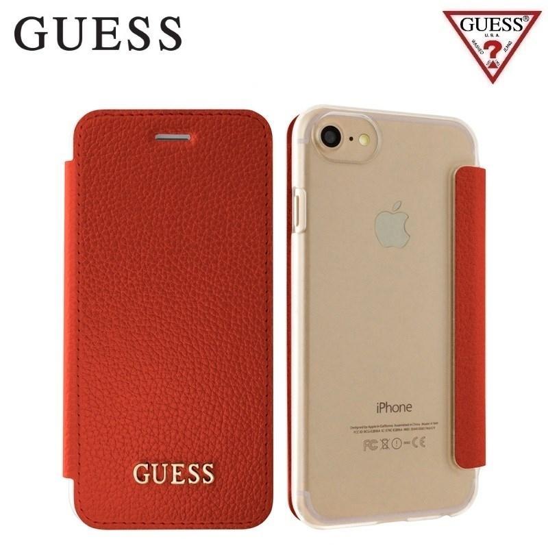 Pouzdro Guess IriDescent Book (GUFLBKP7IGLTRE) pro iPhone 8/7/6/6S - Red GUFLBKP7IGLTRE