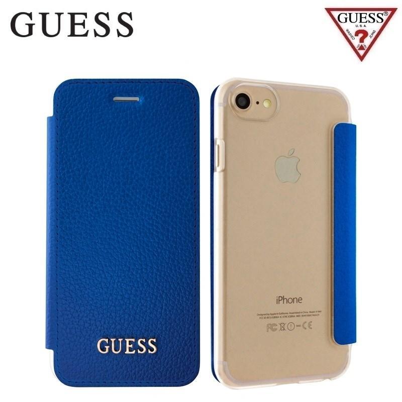 Pouzdro Guess IriDescent Book (GUFLBKP7IGLTBL) pro iPhone 8/7/6/6S - Blue GUFLBKP7IGLTBL