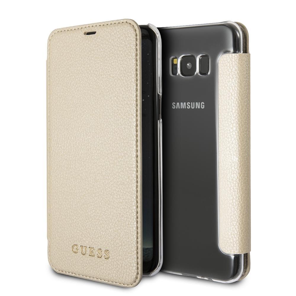 Pouzdro Guess IriDescent Book (GUFLBKS8IGLTGO) pro Samsung Galaxy S8 - Gold GUFLBKS8IGLTGO