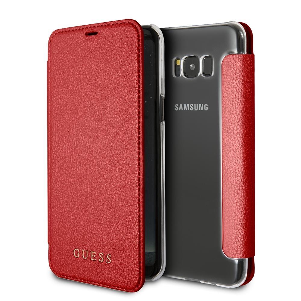 Pouzdro Guess IriDescent Book (GUFLBKS8IGLTRE) pro Samsung Galaxy S8 - Red GUFLBKS8IGLTRE