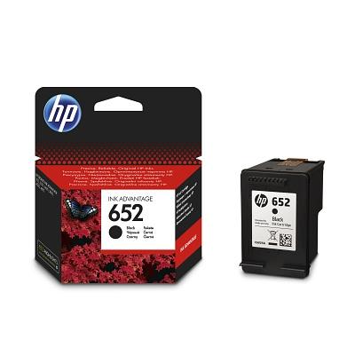 Černá inkoustová tisková kazeta HP 652 (HP652, HP-652, F6V25AE) - Originální F6V25AE