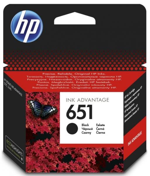 Černá inkoustová tisková kazeta HP 651 (HP651, HP-651, C2P10AE) - Originální C2P10AE