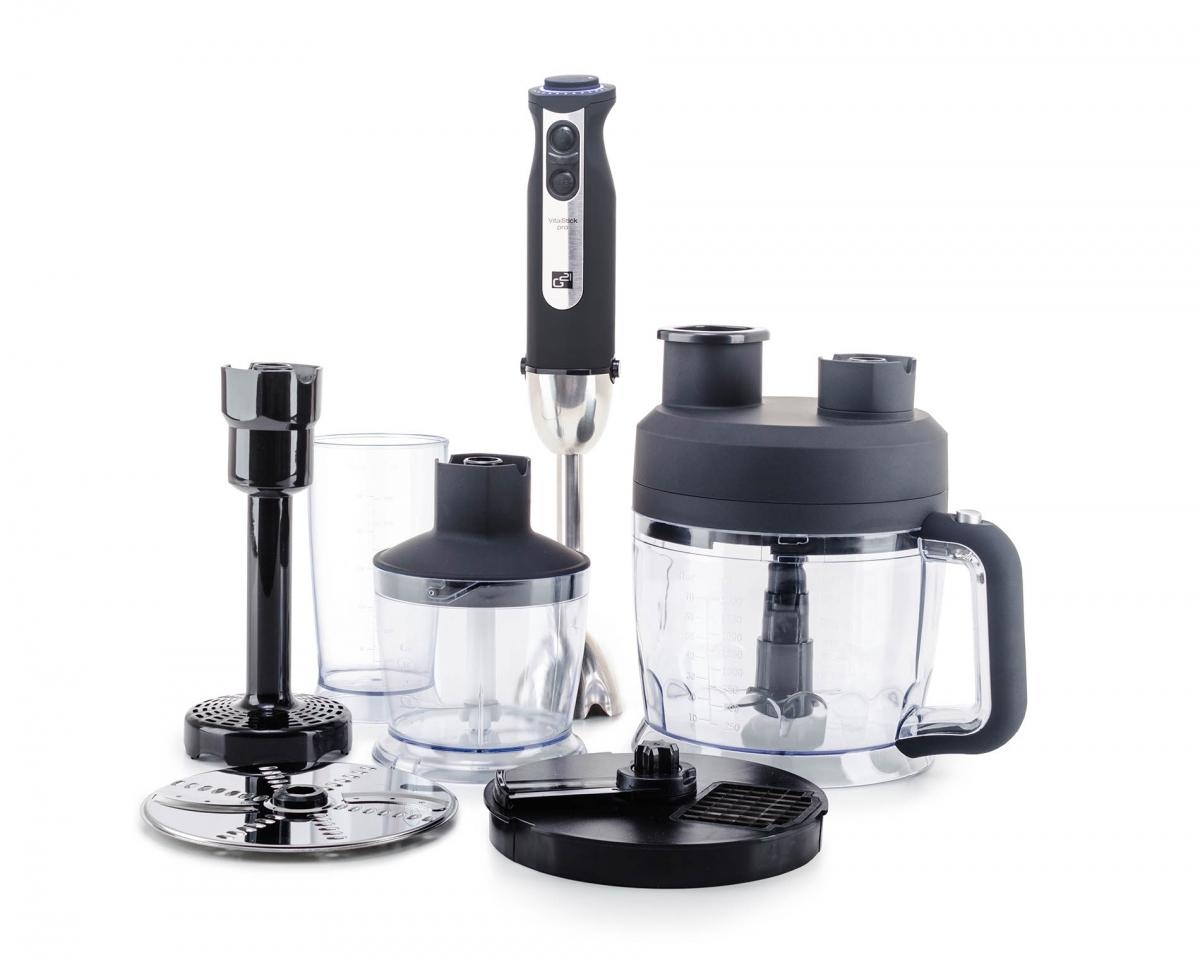 Mixér G21 VitalStick Pro 1000 W s Food Processorem, Black - černý