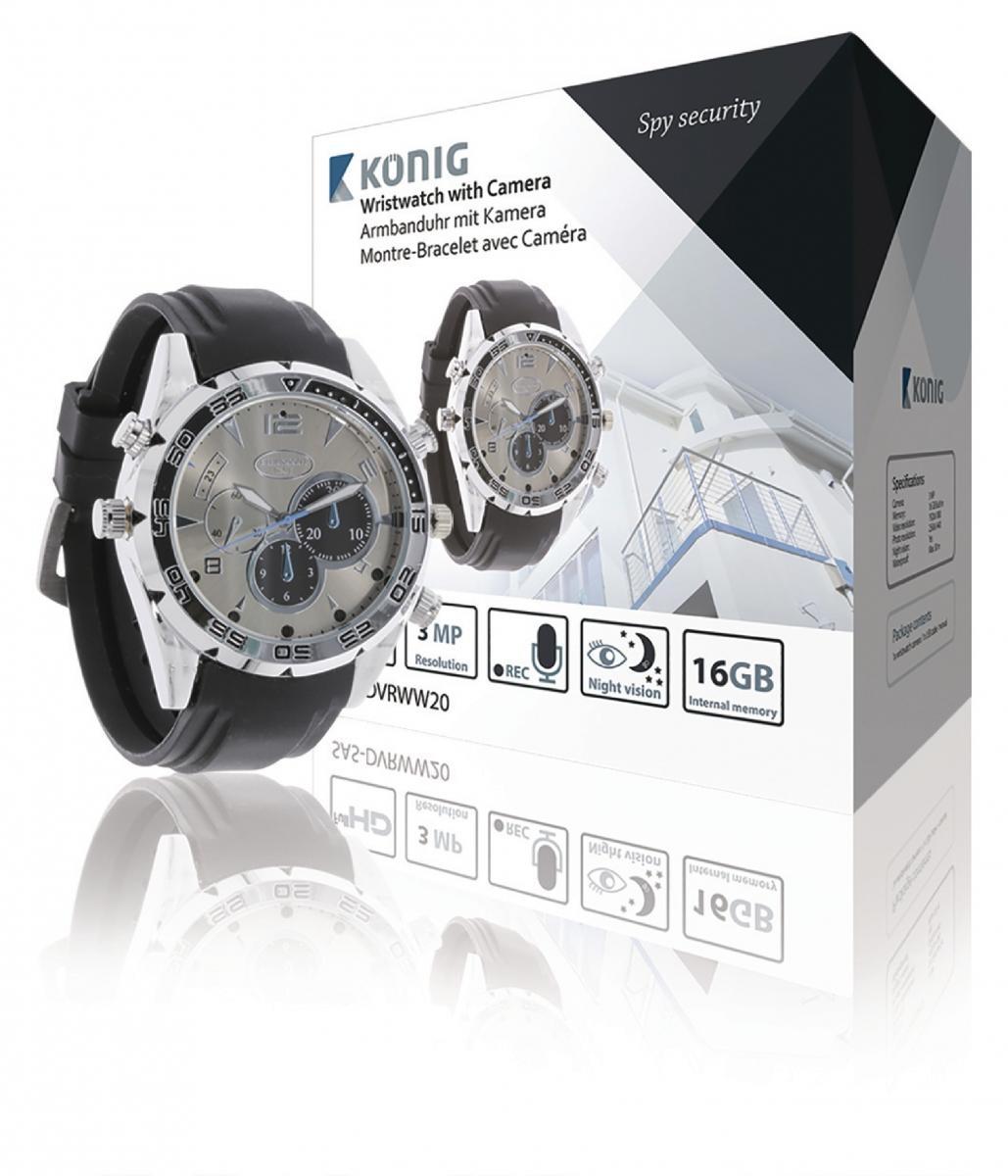 Náramkové hodinky - skrytá kamera (SAS-DVRWW20)