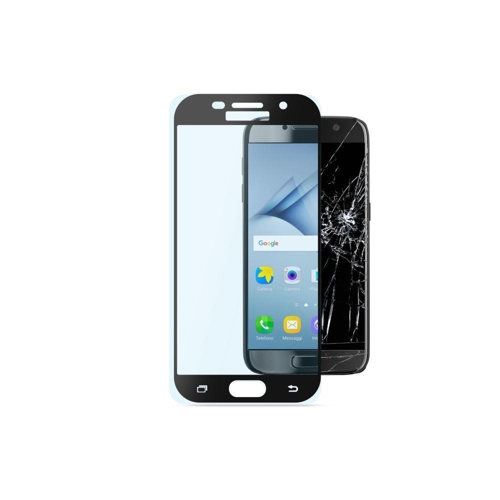 Ochranné tvrzené sklo pro celý displej Cellularline CAPSULE pro Samsung Galaxy A3 (2017), černé TEMPGCABGALA317K
