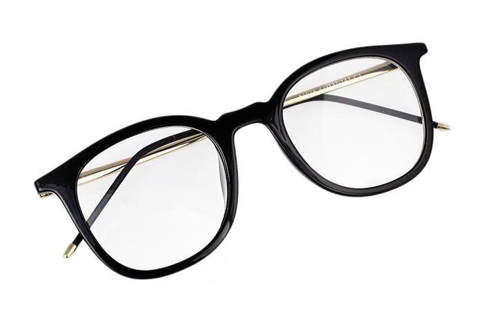 Módní brýle v černo-zlaté barvě