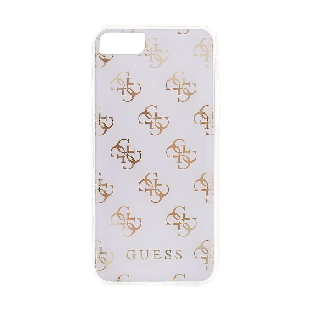 Zadní kryt Guess 4G GUHCP7R4GWH pro iPhone 7/8 - bílý GUHCP7R4GWH