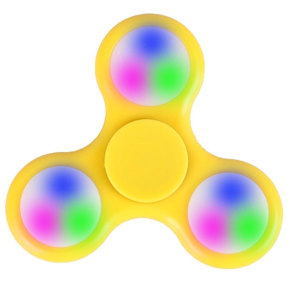 Svítící Fidget Spinner, žlutý