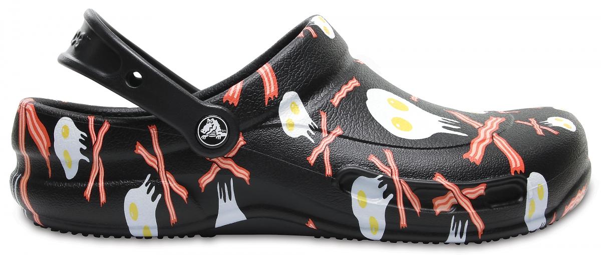 Crocs Work Bistro Graphic - Black/White, M8/W10 (41-42)