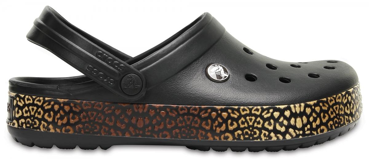 Crocs Crocband Leopard III Clog - Black, M8/W10 (41-42)