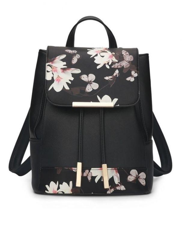 Módní batoh PL27 s květinovým vzorem