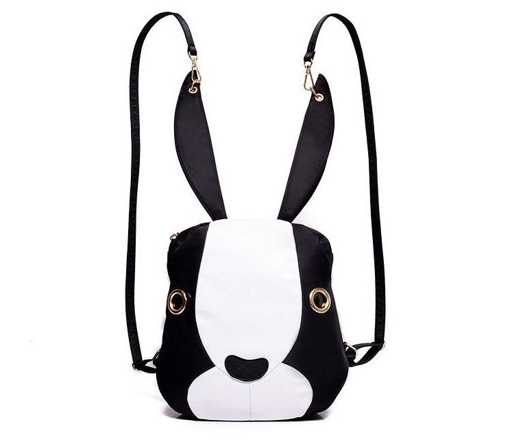 Módní batoh PL32 Bunny, černo-bílý