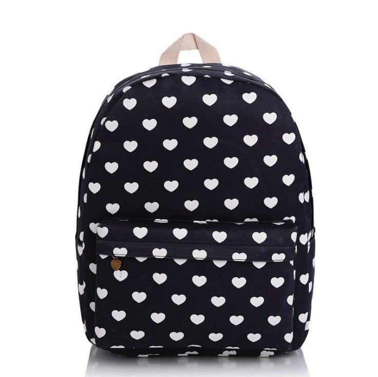Školní batoh PL41 Heart, černý
