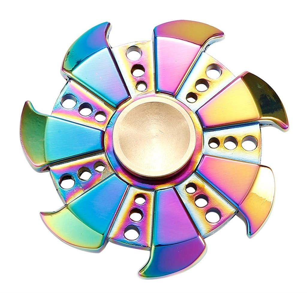 Kovový Fidget Spinner Esperanza ETF105 s duhovým efektem ETF105 - 5901299937402