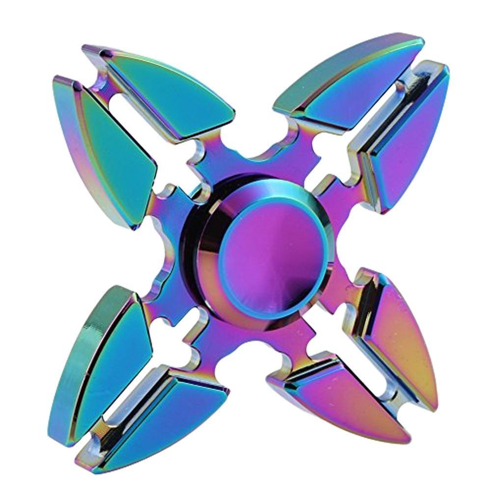 Kovový Fidget Spinner Esperanza ETF109 s duhovým efektem ETF109 - 5901299937440