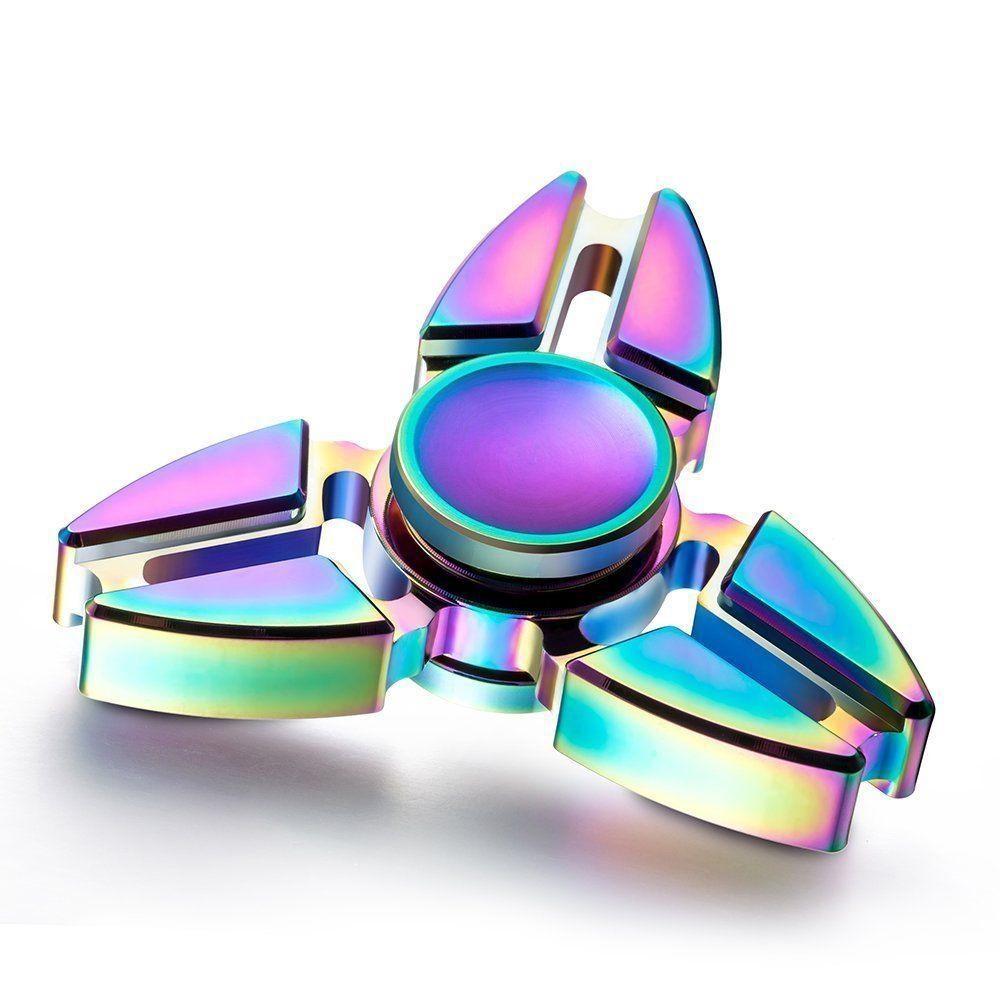 Kovový Fidget Spinner Esperanza ETF107 s duhovým efektem ETF107 - 5901299937426
