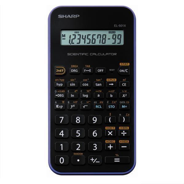 Trhák vědecká kalkulačka SHARP EL-501XVL, černo-fialová SH-EL501XVL