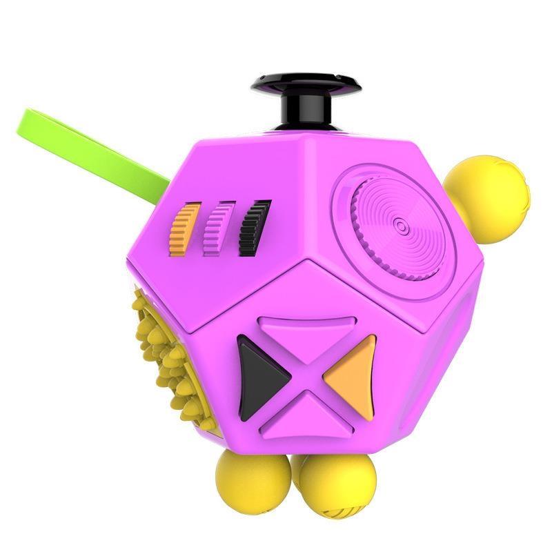 Antistresová hračka Fidget Cube 12-Side, fialová
