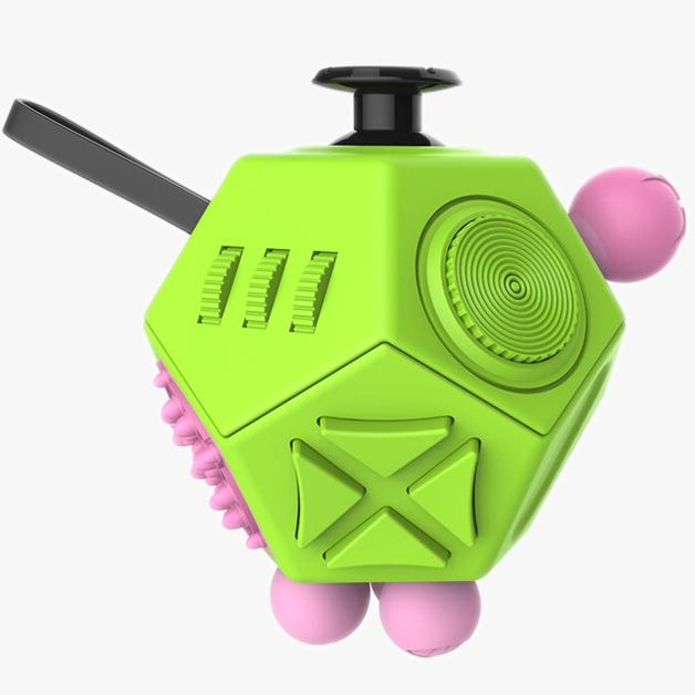 Antistresová hračka Fidget Cube 12-Side, zelená