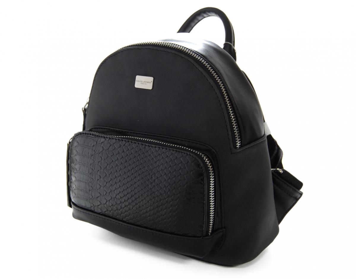 Malý módní batoh David Jones J17 CM 3552-020, černý