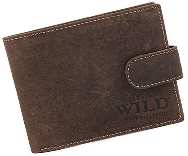 Always Wild pánská peněženka N992L-MHU z pravé kůže, hnědá