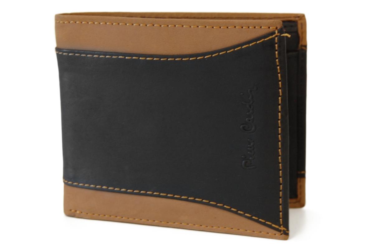 Pierre Cardin pánská kožená peněženka 8824, černo-hnědá