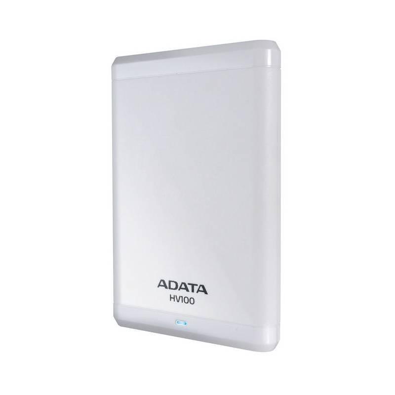 """Trhák ADATA HV100 1TB External 2.5"""" HDD bílý AHV100-1TU3-CWH"""