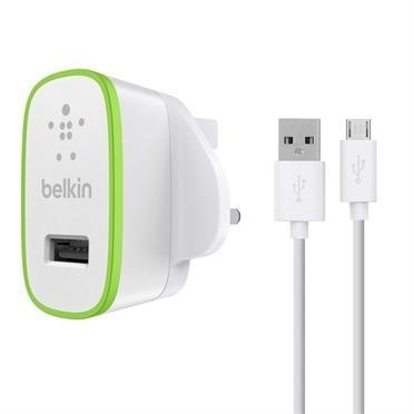 Trhák BELKIN USB 230V nabíječka,2.1A, bílá+micro USB F8M667vf04-WHT