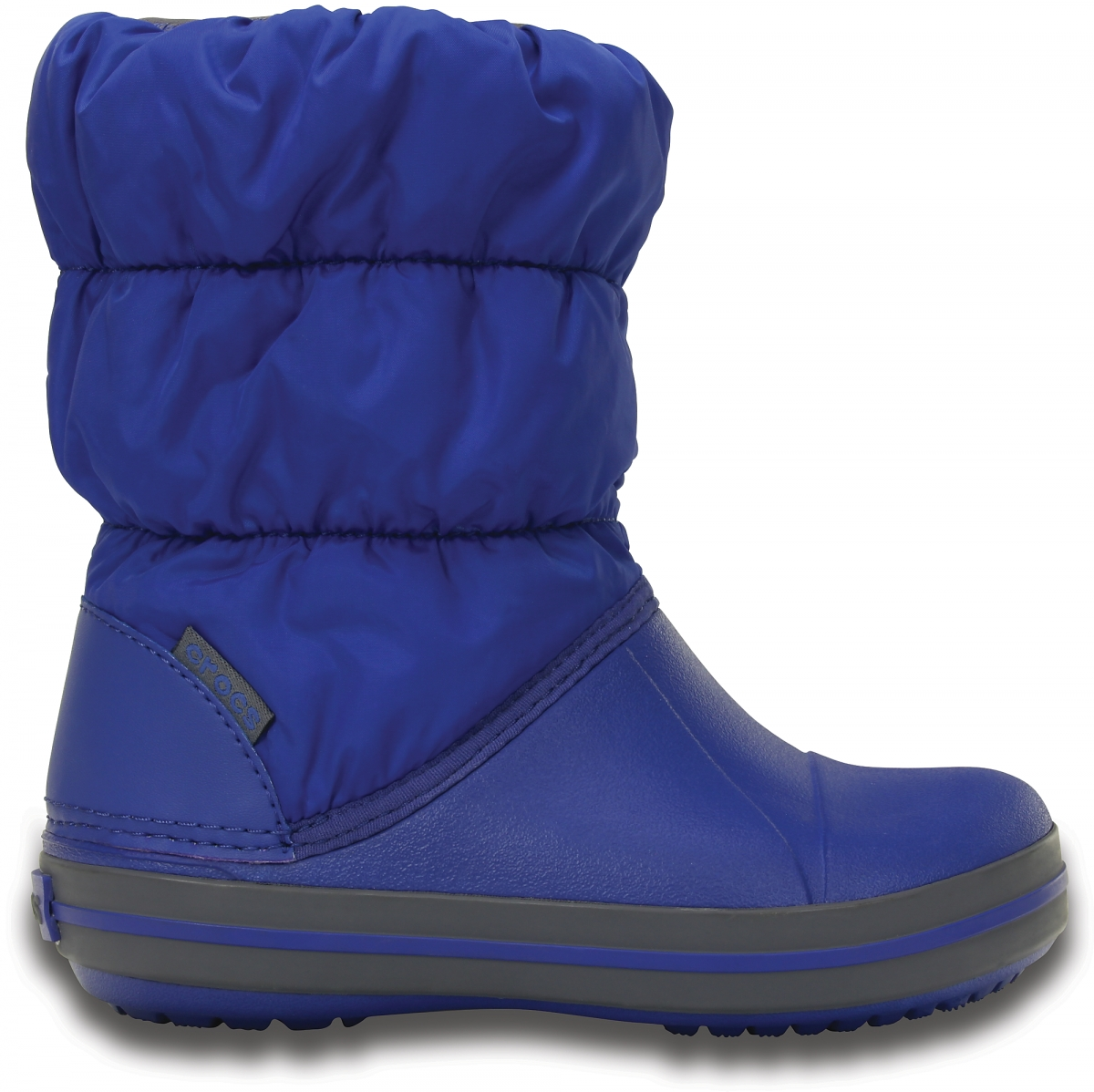 Crocs Winter Puff Boot Kids - Cerulean Blue/Light Grey, C10 (27-28)