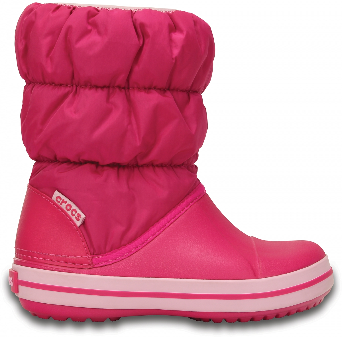 Crocs Winter Puff Boot Kids - Candy Pink, J3 (34-35)