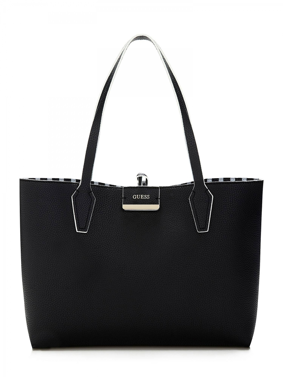 Guess Bobbi Shopper Black Stripe 3v1, černo-bílá