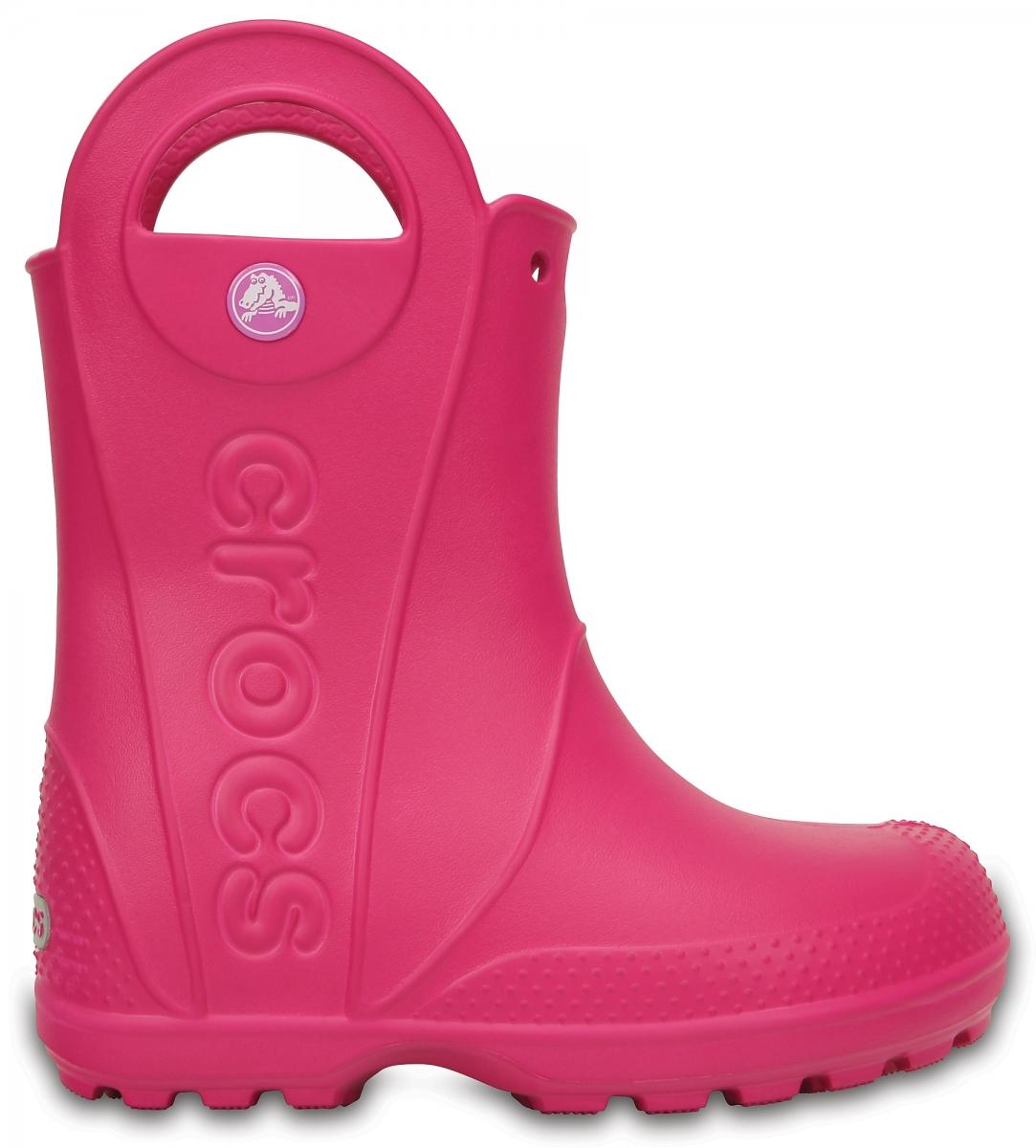 Crocs Handle It Rain Boot Kids - Candy Pink, C11 (28-29)