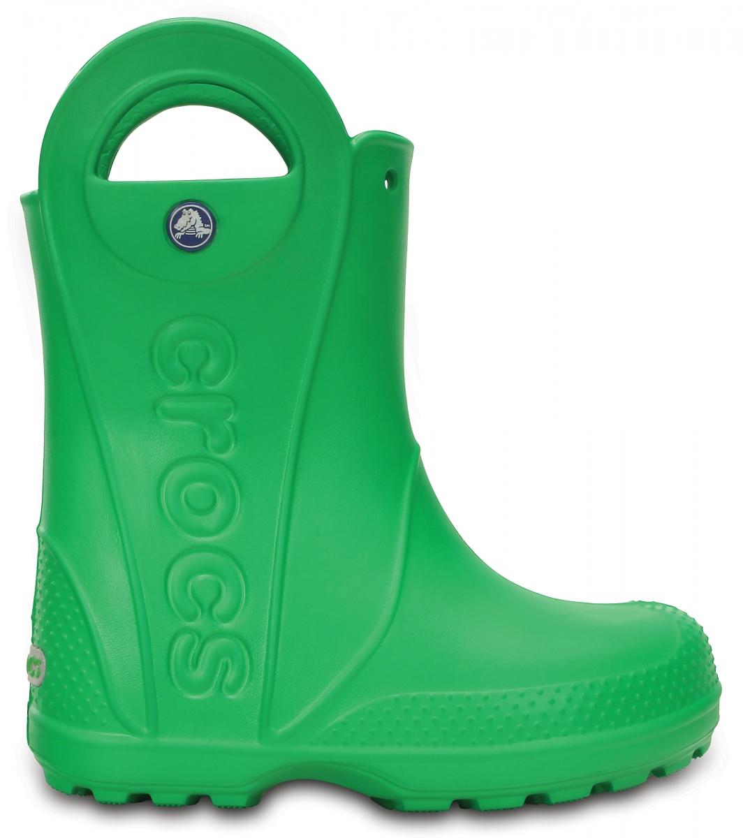 Crocs Handle It Rain Boot Kids - Grass Green, J1 (32-33)