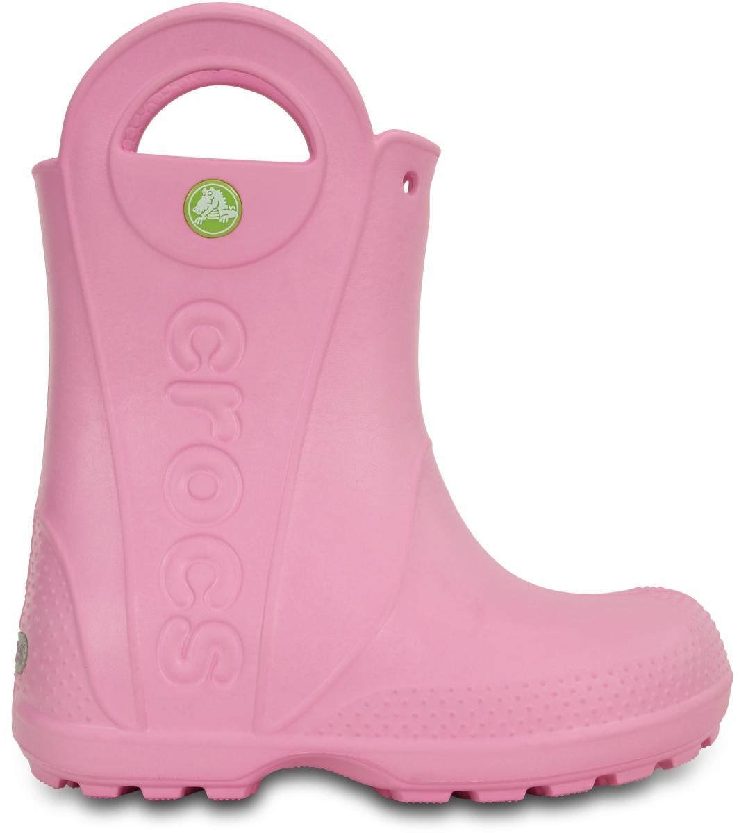 Crocs Handle It Rain Boot Kids - Carnation, C12 (29-30)